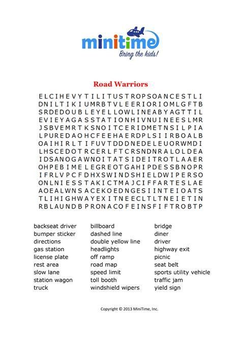 printable travel word games road trip word searches free printable travel word