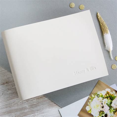 personalised leather wedding album by begolden