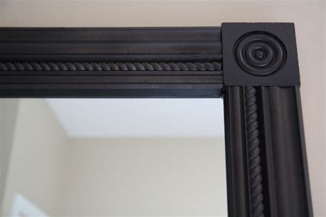 Framing Bathroom Mirror With Molding | crown molding with square molding corners to frame bath