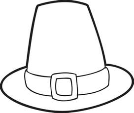 hat coloring free printable pilgrim hat coloring page for