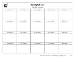 Volunteer Schedule Template Excel by Volunteer Schedule Template Schedule Template Free
