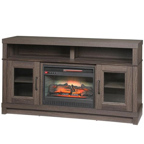 real fireplace tv stand real valmont 76 in media console electric fireplace