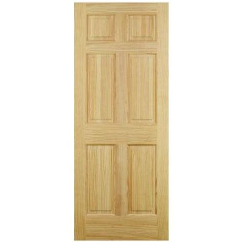 home depot interior slab doors jeld wen 28 in x 80 in 6 panel pine interior door slab