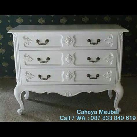 Nakas Laci Jati Ukiran Jepara Furniture Bufet Lemari Cabinet lemari laci klasik ukir putih duco cahaya mebel jepara