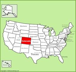 us states map denver colorado location on the u s map