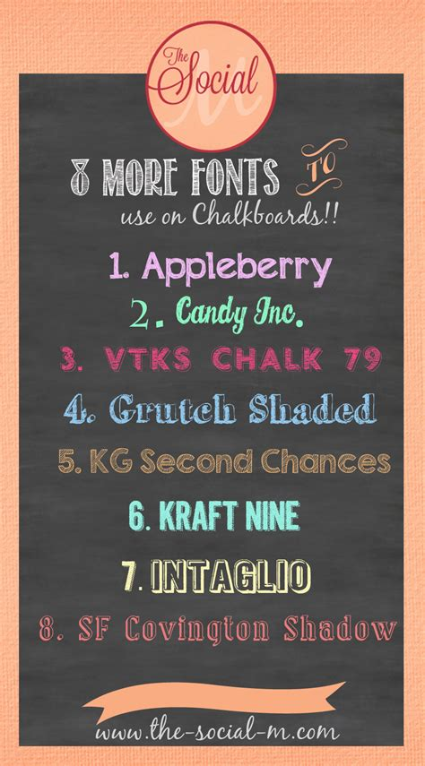 printable chalkboard fonts more chalkboard fonts freebies the social m