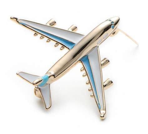 Plane Brooch airplane luxury brooches for enamel pins