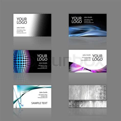 Karten Design Vorlagen ein sortiment 6 moderne visitenkarten vorlagen die