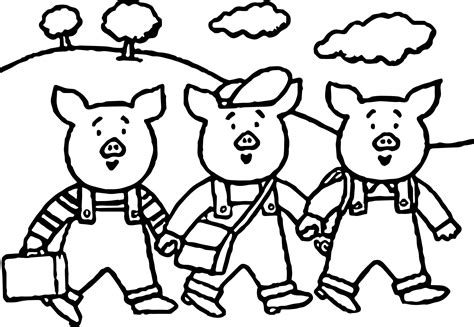 three pigs coloring pages 3 pigs school coloring page wecoloringpage