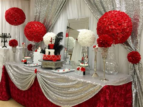 rose themed party supplies red roses birthday party ideas photo 1 of 14 catch my
