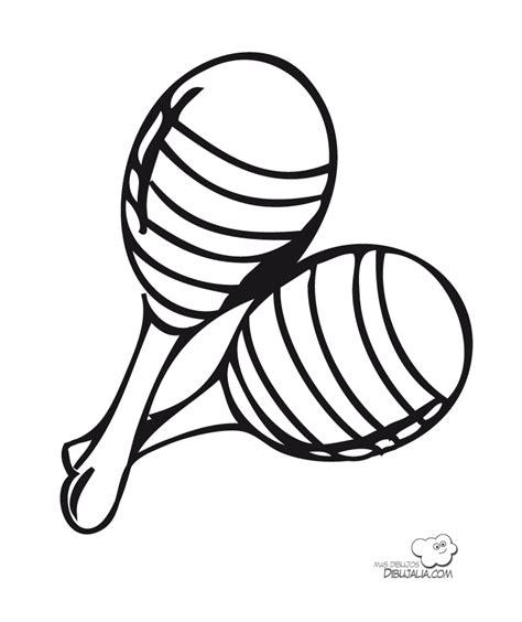 imagenes para colorear instrumentos musicales maracas dibujalia dibujos para colorear m 250 sica maracas