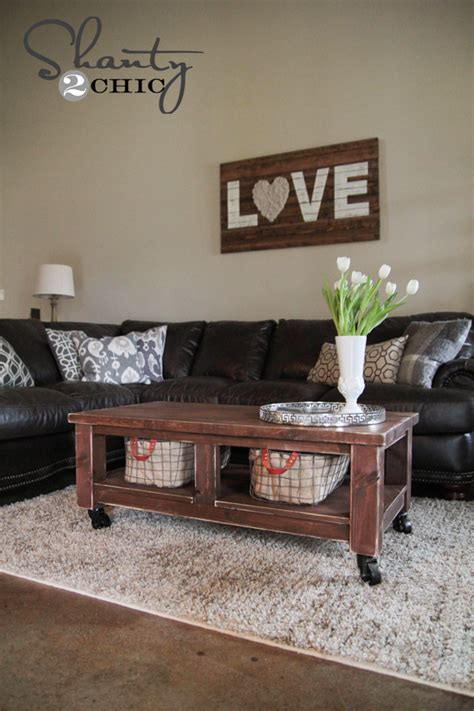 pottery barn knockoff coffee table shanty  chic