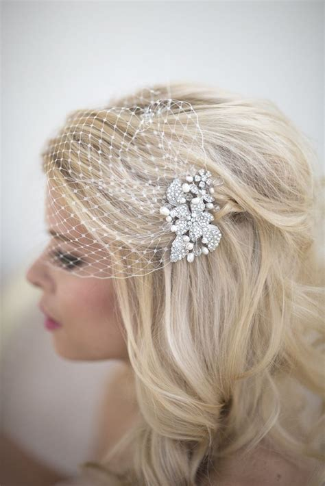 Wedding Hair Birdcage Veil by Best 25 Wedding Birdcage Veils Ideas On