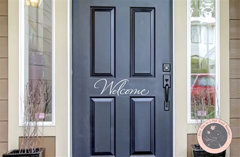 welcome decal for front door welcome front door wall decal welcome door by