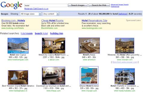 google image search gallery text ads in google image search