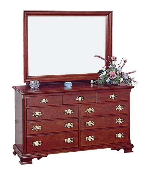 furniture of america mirrored dresser cherry double dresser