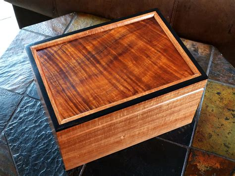 Handcrafted Humidors - handmade koa desktop humidor by carolina wood designs