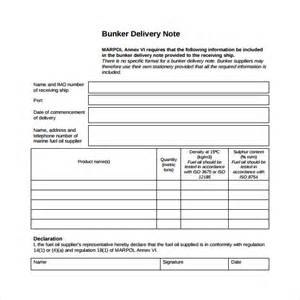 delivery note template sle delivery note 17 documents in word pdf