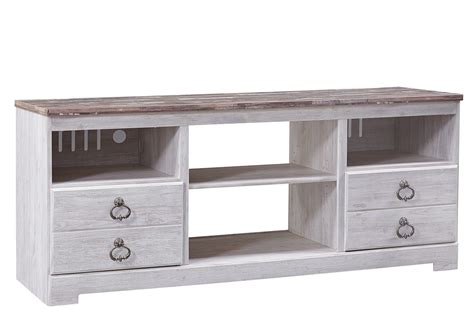 Ivan Smith Willowton Whitewash Large TV Stand