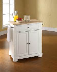Portable Kitchen Islands by Crosley Furniture Alexandria Natural Wood Top Portable