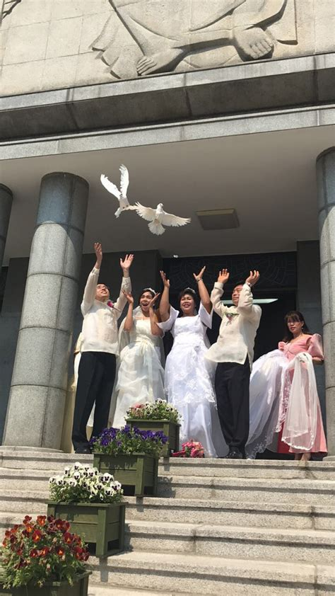 simple church wedding ceremony philippines korean couples hold a style wedding ceremony