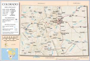 colorado counties map with cities map of colorado free large images