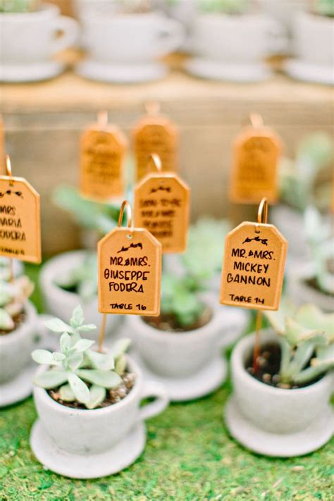 creative wedding favors on a budget unique wedding reception ideas on a budget plant in teacup wedding favors and cards