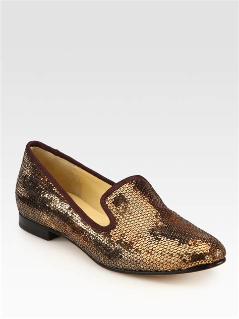 cole haan slippers for cole haan sabrina sequin slippers in brown lyst
