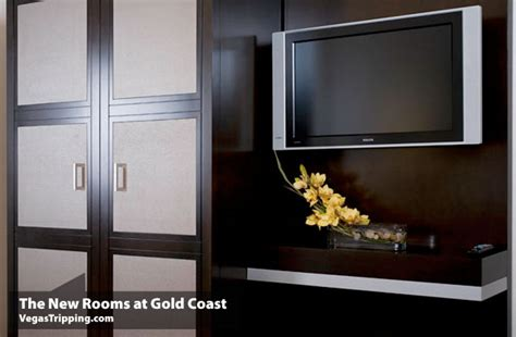 flat screen tv in a closet new premium rooms at gold coast are wow vegastripping com