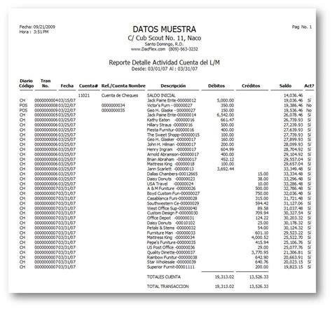 ejemplo libro diario contabilidad imprimir el reporte de actividad de libro mayor