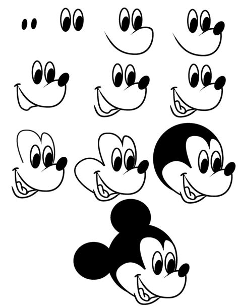 learn how to draw mickey mouse step by step easy drawing drawing mickey mouse