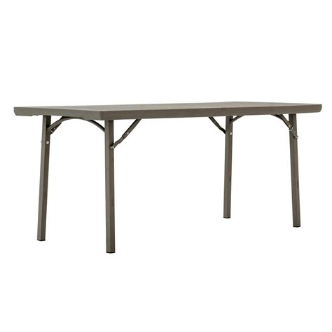 6 Ft Folding Table Lifetime 6 Ft Almond Adjustable Height Folding Table 22920 The Home Depot