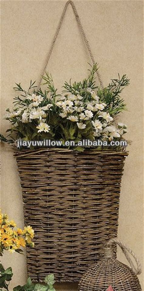 Wall Hanging Plant Basket Wicker Baskets For Plants Indoor