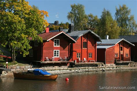 buy house in finland photo old town of porvoo with shore houses in finland picture
