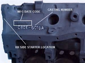Ford Engine Block Codes Chevy Engine Block Numbers Location Get Free