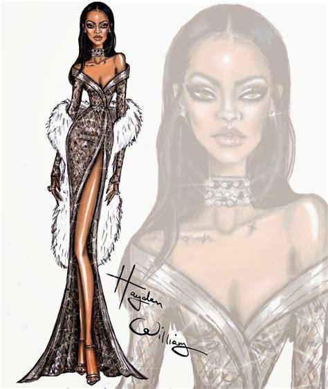 rihanna design hayden williams fashion illustrations happy birthday