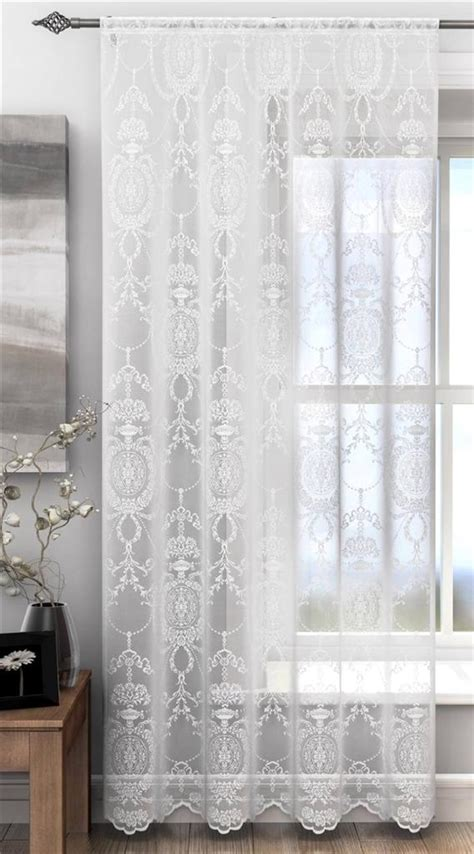 damask lace curtains holly elegant damask lace curtain voile panel many