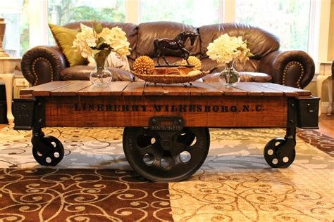 Industrial Cart Coffee Table Diy Cool Cart Coffee Table To Liven Up Your Room