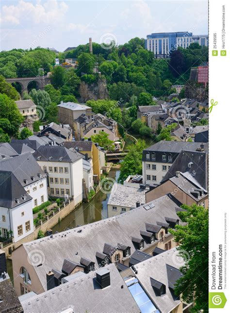 Lu City Z town of the city of luxembourg stock image image