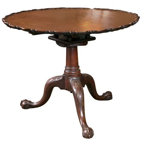 chippendale pie crust tilt top table at 1stdibs