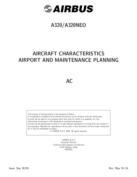 AIRCRAFT CHARACTERISTICS AIRPORT AND MAINTENANCE PLANNING