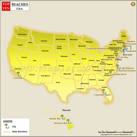 map usa beaches best beaches in the usa top 10 beaches in us