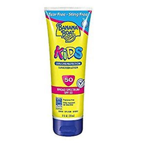 banana boat men s sunscreen spf 50 banana boat kids tear free sunscreen lotion