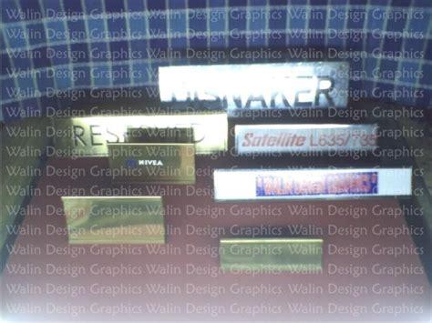 Plat Stainless Grafir nameplate nametag nameplateholder home industry handicraft