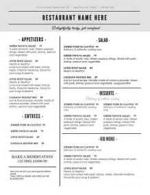 food menu template word 30 printable menu templates sles exles free