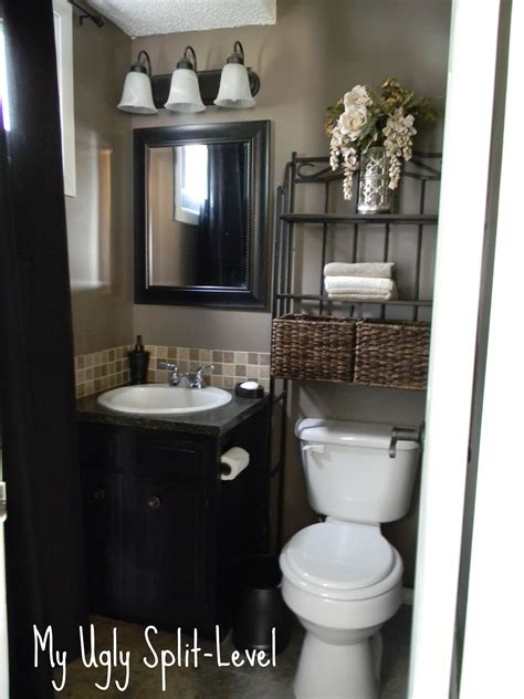 Bathroom Decor Ideas On A Budget by My Split Level The Back Bathroom