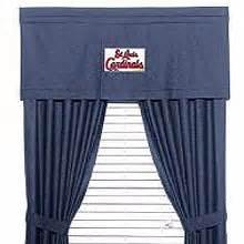 st louis cardinals curtains st louis cardinals team denim window valance