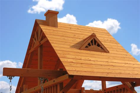 Wood Cupola Wood Roof Complete Clubhouse Kit In A Box