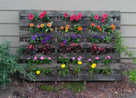 Pallet Flower Planters by 28 Wonderful Garden Outdoor Pallet Projects