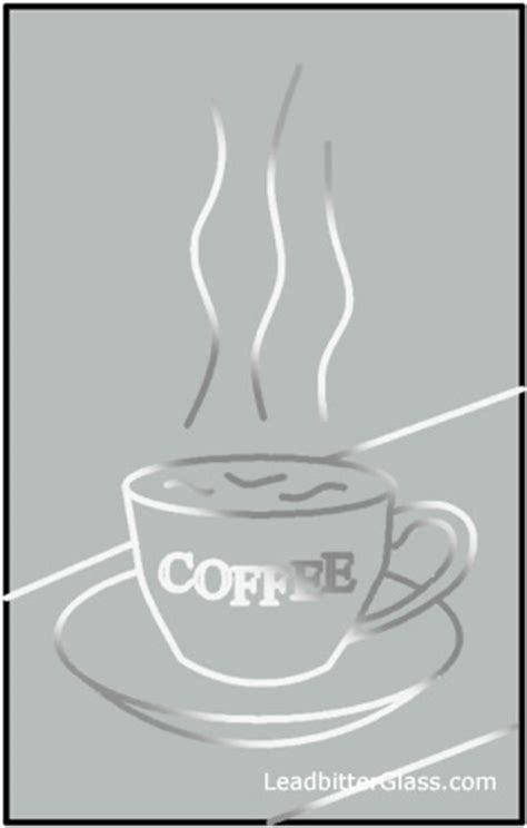 Stephanie   Etched Glass Coffee Cup   Hemel Hempstead